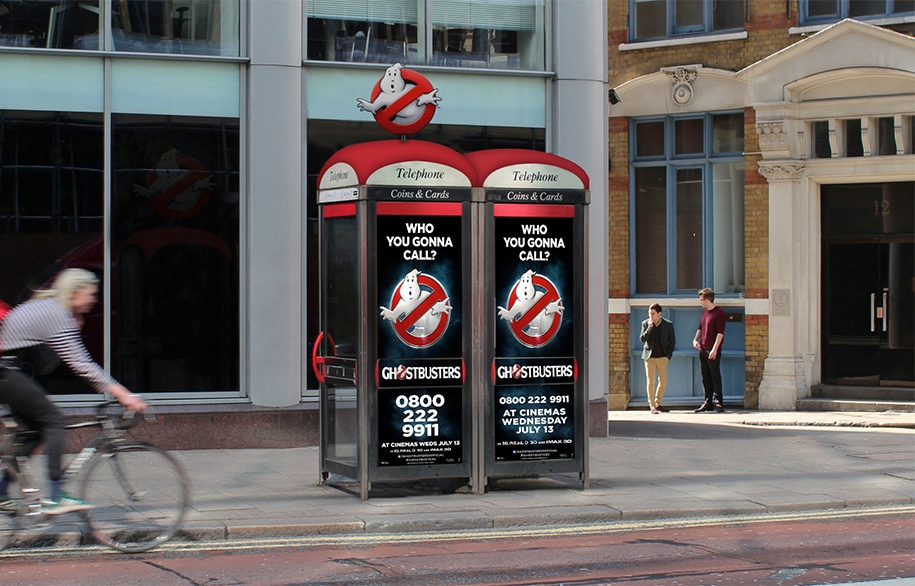 Telephone Booth Advertisment