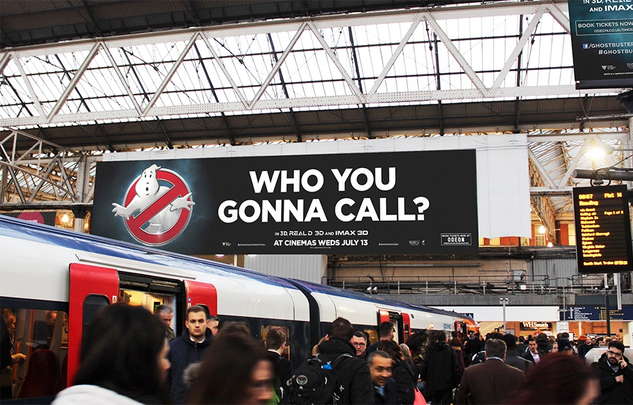 Waterloo Station Print Banner